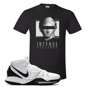 Kyrie 6 Oreo T Shirt | Black, Intense Feelings