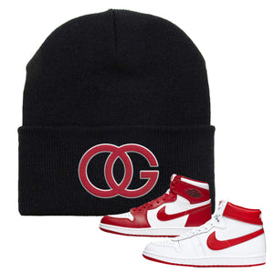 Jordan 1 New Beginnings Pack Sneaker Black Beanie | Beanie to match Nike Air Jordan 1 New Beginnings Pack Shoes | OG