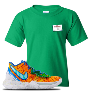 Kyrie 5 Pineapple House Kid's T-Shirt | Irish Green, Rick