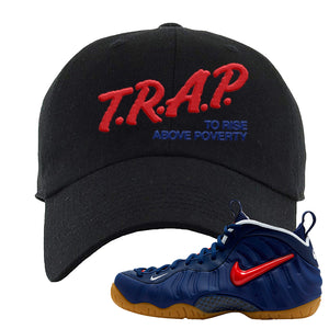 Air Foamposite Pro USA Dad Hat | Black, Trap To Rise Above Poverty