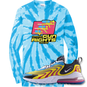 Water Soaker Turquoise Longsleeve T-Shirt to match Air Max 270 React ENG Laser Blue Sneakers