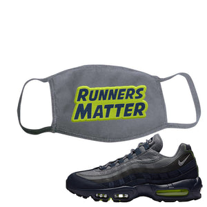 Air Max 95 Midnight Navy / Volt Face Mask | Solid Charcoal, Runners Matter