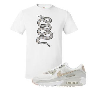 Air Max 90 Zebra Snakeskin T Shirt | Coiled Snake, White