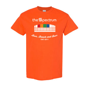 Spectrum Stadium T-Shirt | The Spectrum Stadium Orange T-Shirt the front of this shirt has the spectrum