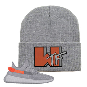 Yeezy Boost 350 V2 Tail Light Sneaker Light Gray Beanie | Beanie to match Adidas Yeezy Boost 350 V2 Tail Light Shoes | WTF