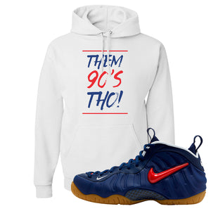 Air Foamposite Pro USA Hoodie | White, Them 90's Tho