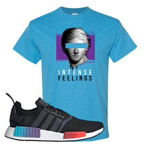 NMD R1 Gradient T Shirt | Heather Sapphire, Intense Feelings