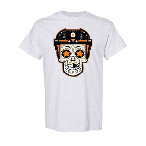 Broad Street Bullies Skull T-Shirt | Broad Street Bullies Candy Skull Ash Tee Shirt the front of this shirt has the bullies skull candy logo