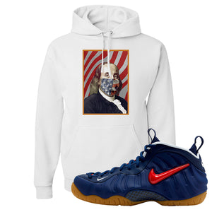 Air Foamposite Pro USA Hoodie | White, Franklin Mask