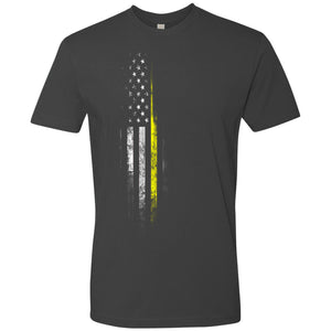 Standard Issue Yellow Lives Matter Distressed Gray Grunt Life T-Shirt