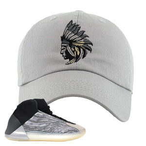 Yeezy Quantum Dad Hat | Light Gray, Indian Chief