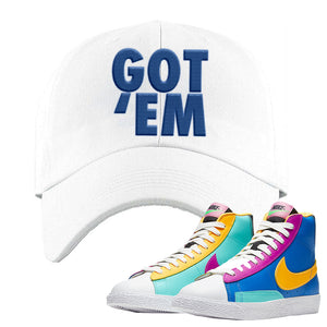 Blazer Mid Big Kids Dad Hat | White, Got Em