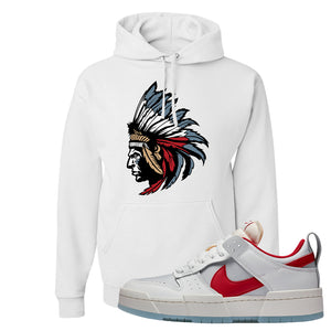 Dunk Low Disrupt Gym Red Hoodie | Indian Chief, White