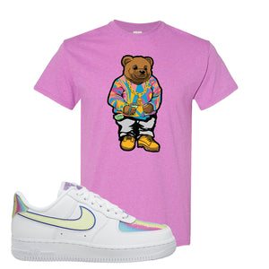 Air Force 1 Low Easter T Shirt | Heather Radiant Orchid, Sweater Bunny