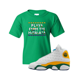 Playa From the Himalaya Irish Green Kid's T-Shirt to match Air Jordan 13 GS Playground Kids Sneaker