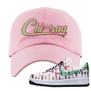Air Force 1 Low Multi-Colored Tie-Dye Dad Hat | Light Pink, Chiraq