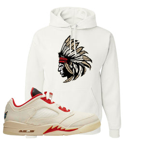Air Jordan 5 Low Chinese New Year 2021 Hoodie | Indian Chief, White