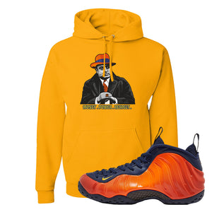 Foamposite One OKC Hoodie | Gold, Capone Illustration
