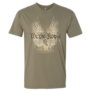 Standard Issue We The People Bald Eagle Light Olive Grunt Life T-Shirt