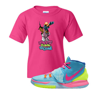 Kyrie 6 Pool Kids T-Shirt | Dont Hate the Player, Heliconia