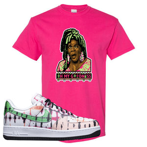 Air Force 1 Low Multi-Colored Tie-Dye T Shirt | Heliconia, Oh My Goodness
