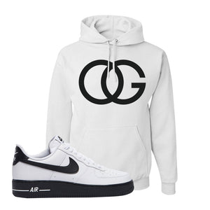 Air Force 1 Low White Black Hoodie | White, OG