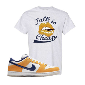 SB Dunk Low Laser Orange T Shirt | Ash, Talk is Cheap