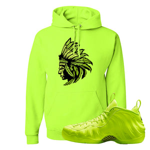 Air Foamposite Pro Volt Hoodie | Indian Chief, Safety Green