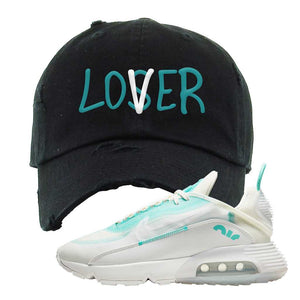 Air Max 2090 Pristine Green Distressed Dad Hat | Black, Lover