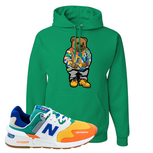 997S Multicolor Sneaker Kelly Pullover Hoodie | Hoodie to match New Balance 997S Multicolor Shoes | Sweater Bear