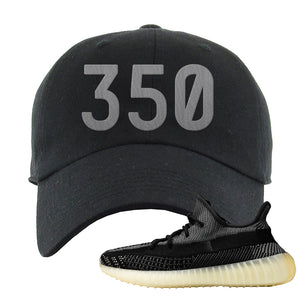 Yeezy Boost 350 v2 Carbon Dad Hat | 350, Black