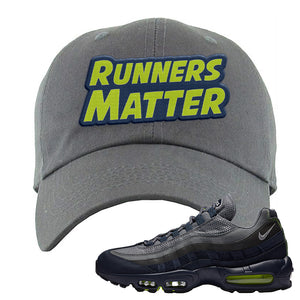 Air Max 95 Midnight Navy / Volt Dad Hat | Dark Gray, Runners Matter