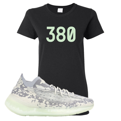 Yeezy Boost 380 Alien 380 Black Sneaker Matching Women's T-Shirt