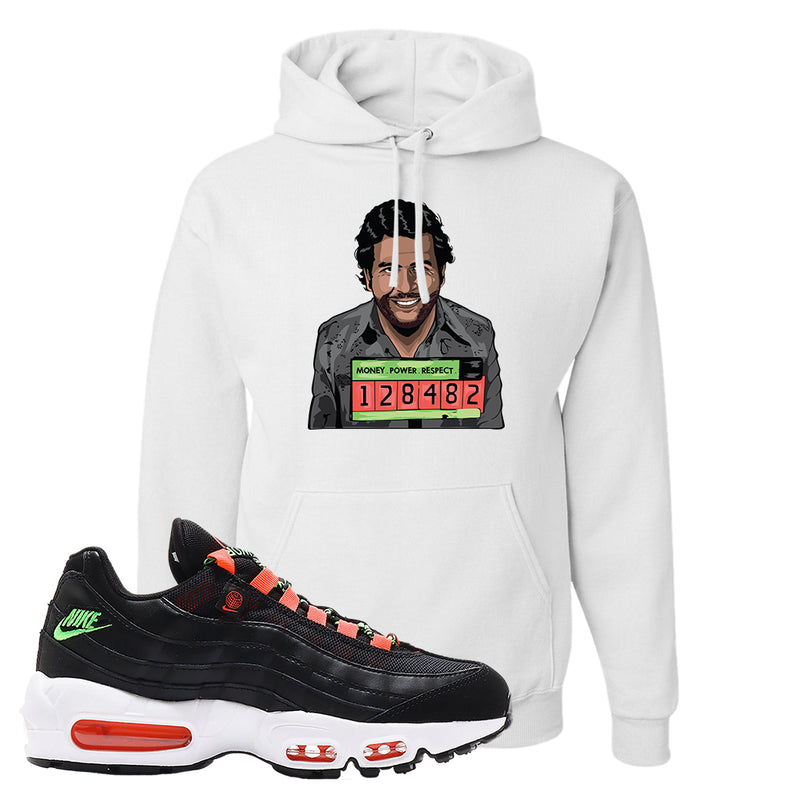 Air Max 95 Worldwide Black Green Hoodie | White, Escobar Illustration