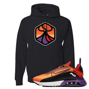 Air Max 2090 Magma Orange Hoodie | Black, Volcano 1