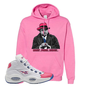 Question Mid Pink Toe Hoodie | Capone Illustration, Azalea