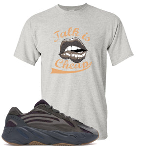 Yeezy Boost 700 Geode Sneaker Hook Up Talk Is Cheap Sports Gray T-Shirt
