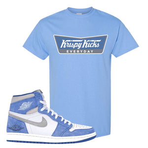 Air Jordan 1 High Hyper Royal T-Shirt | Krispy Kicks, Carolina Blue