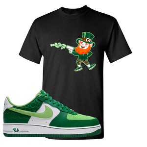 Air Force 1 Low St. Patrick's Day 2021 T Shirt | Leprechaun, Black