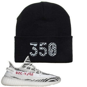 Yeezy Boost 350 V2 Zebra 350 Black Sneaker Hook Up Beanie
