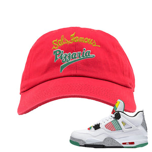 Jordan 4 WMNS Carnival Sneaker Red Dad Hat | Hat to match Do The Right Thing 4s | Sal's Famous Pizzeria