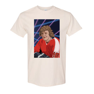 Bobby Clarke T-Shirt | Bobby Clarke Class Photo Natural T-Shirt the front of this t-shirt has bobby clarke's class photo