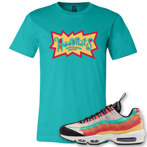 Air Max 95 Black History Month Sneaker Antique Jade Dome T Shirt | Tees to match Nike Air Max 95 Black History Month Shoes | Hood Rats