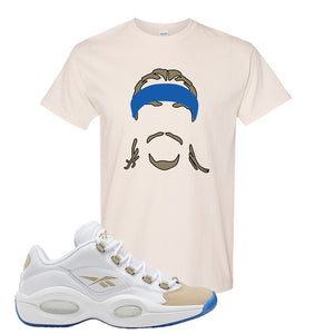 Reebok Question Low Oatmeal T Shirt | Natural, Headband Corn Rows