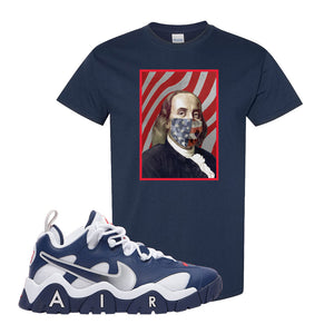 Air Barrage Low USA T Shirt | Navy, Franklin Mask