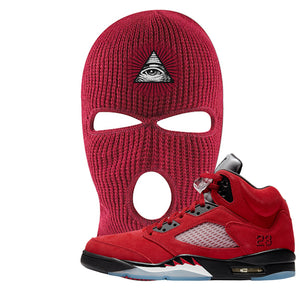 Air Jordan 5 Raging Bull Ski Mask | All Seeing Eye, Red
