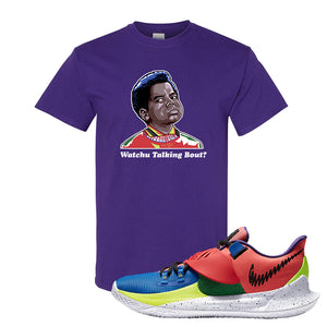 Kyrie Low 3 NY vs NY T Shirt | Watchu Talking Bout, Purple