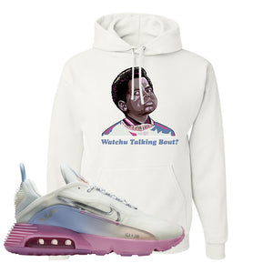 Air Max 2090 Airplane Travel Hoodie | Watchu Talking Bout, White