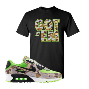 Air Max 90 Duck Camo Ghost Green T Shirt | Black, Got Em