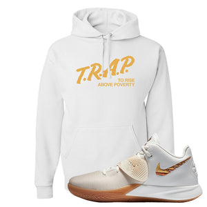 Kyrie Flytrap 3 Summit White Hoodie | Trap To Rise Above Poverty, White